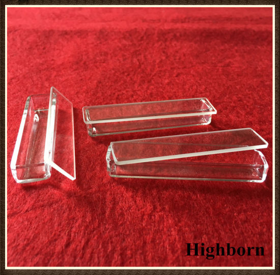 70*15*10mm Clear Quartz Glass Trays with Flat Sheet Lid pictures & photos