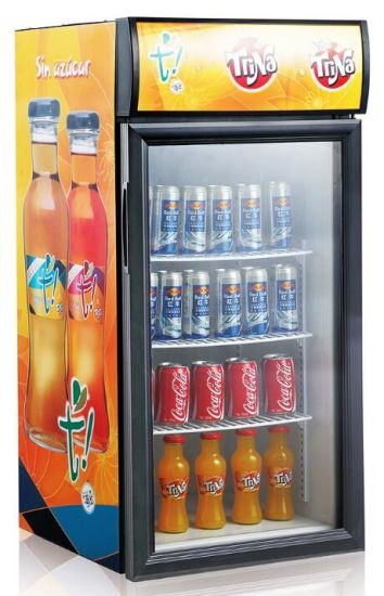 Small Upright Mini Tabletop Soft Drink Beer Bar Cooler (JGA-SC120D)