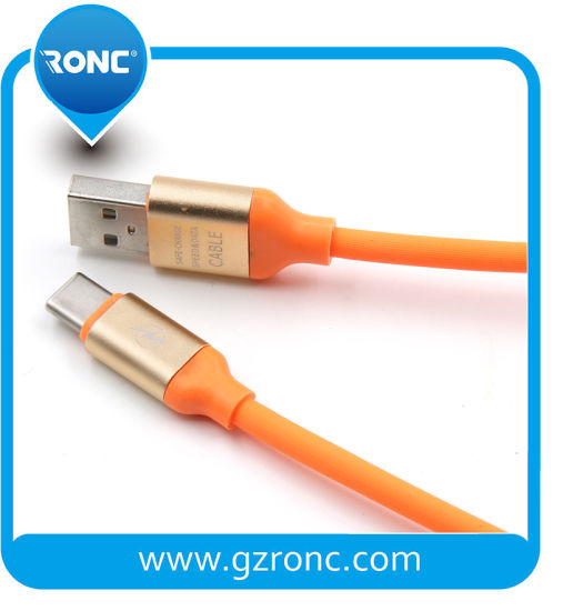 Rubber Material Fast Charge Data Transfer 5V 2A USB Cable