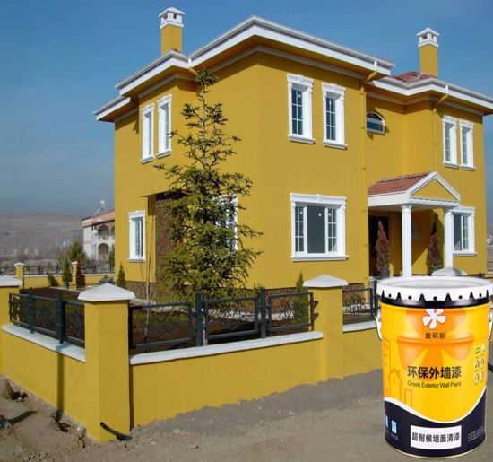 Exterior home latex paint
