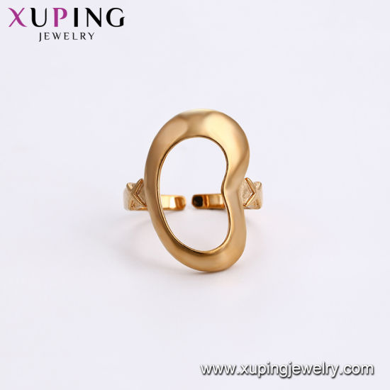 12739 Xuping Fashion Women Simple 18K Gold-Plated Imitation Jewelry Ring pictures & photos
