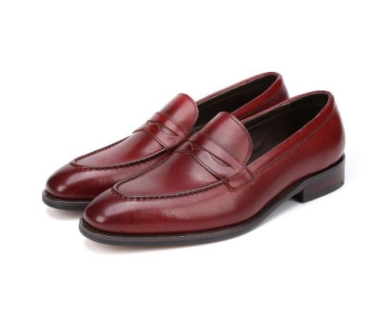 Men Dress Shoes Brown Leather Office