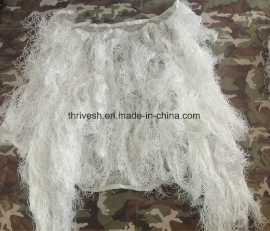 011f40872556a White Color Ghillie Suit, Sniper Suit, Hunting Suit Use Military, Snowfield  pictures &