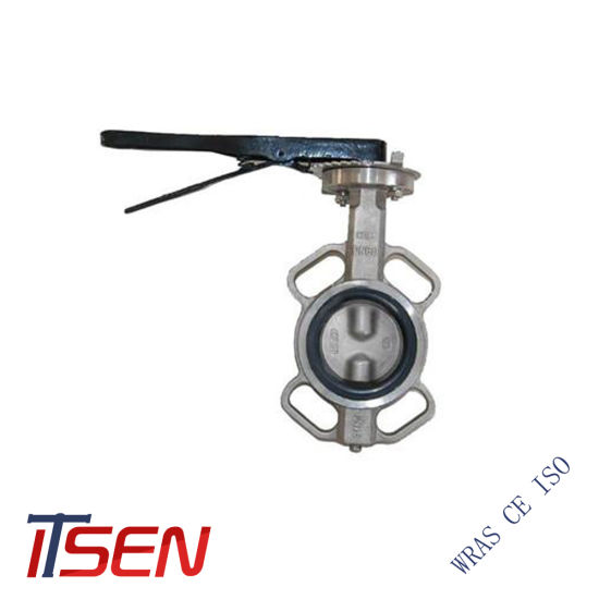 DIN Cast Stainless Steel EPDM Coated Wafer Type Butterfly Valve