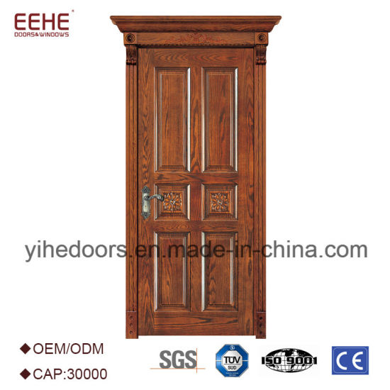 China Luxury Burma Teak Wood Front Door Design China Handmade