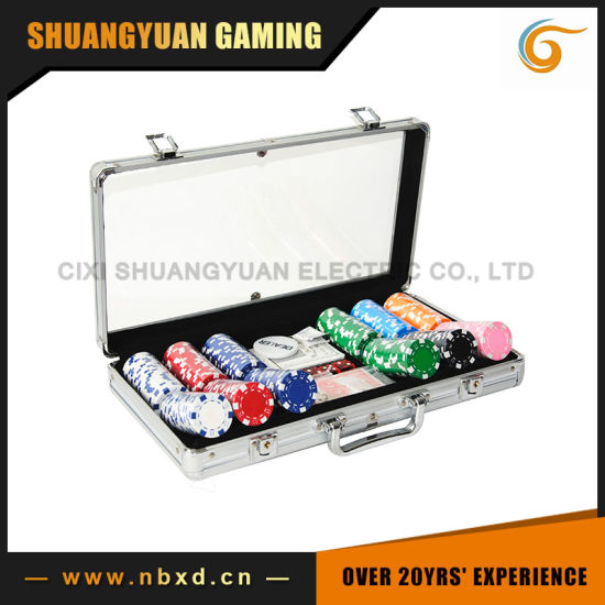 300PCS Poker Chip Set in Transparent Cover Aluminum Case (SY-S19) pictures & photos