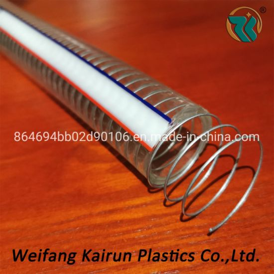 Transparent Non-Toxic High Quality Low Price PVC Steel Hose