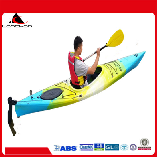 11FT China Manufacturer 3 Person Family Plastic Canoe Kayak No Inflatable Boat