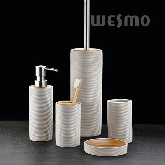 Elegant Polyresin Bathroom Set (WBP1192A)