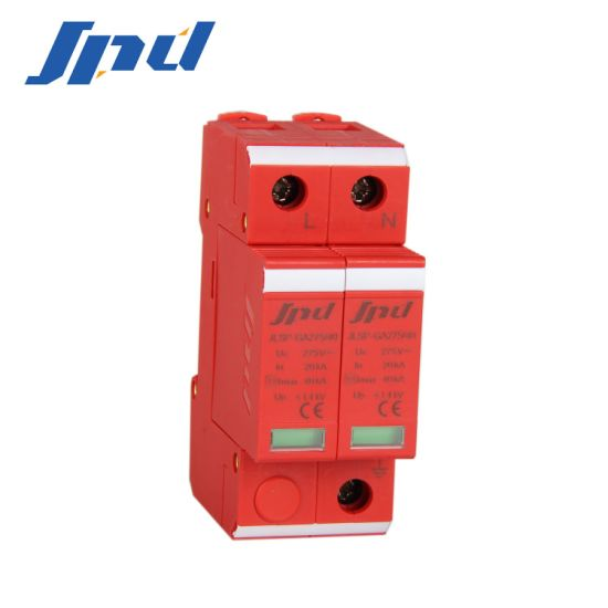 Jinli 220V 40ka Single Phase AC Surge Protector 2 Poles Surge Protection Device