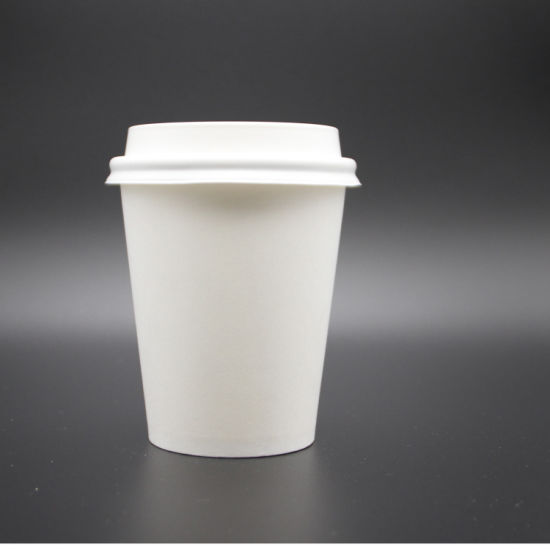 8oz White Plain Single Wall Hot Coffee