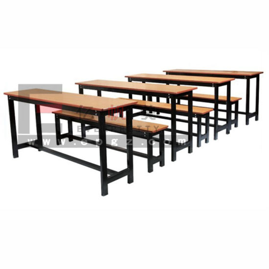 Wood Bench Double Cheap Study Table Metal Desk School Desk Base pictures & photos