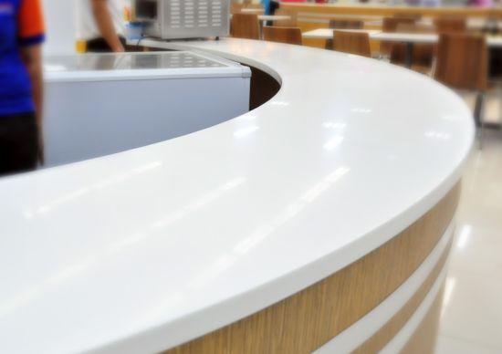 office furniture reception desk counter. Factory Direct Curved Office Furniture Reception Counter Front Desk For SPA Hospital