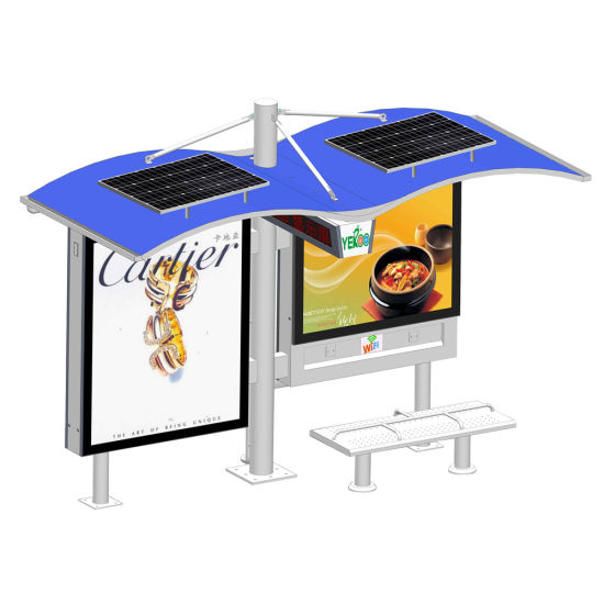 Outdoor Solar Energy Advertising Bus Stop Shelter pictures & photos