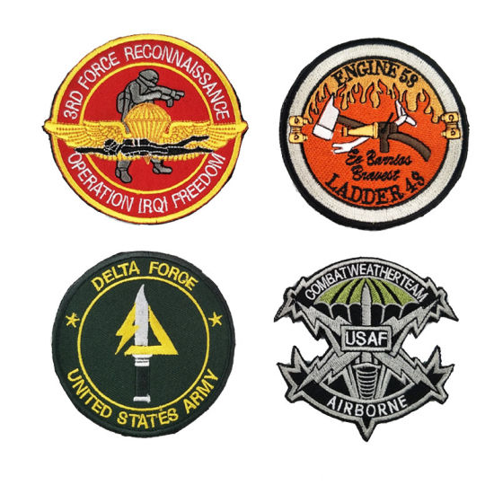 Twill Embroidery Patches /Embroidery Patch with Custom Logo