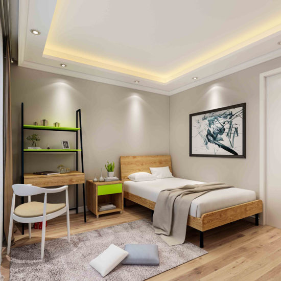 Economic Business Customized Hotel Project Bedroom Set with Luggage Rack