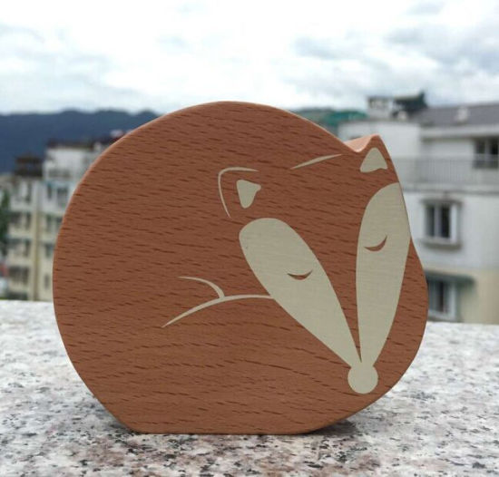 Screen Printing Fox Wooden Music Box pictures & photos