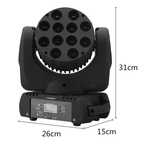 DMX512 12X10W RGBW 4in1 Beam Wash LED Moving Head pictures & photos