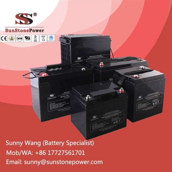 Deep Cycle 12V VRLA Battery for UPS Application AGM Battery pictures & photos