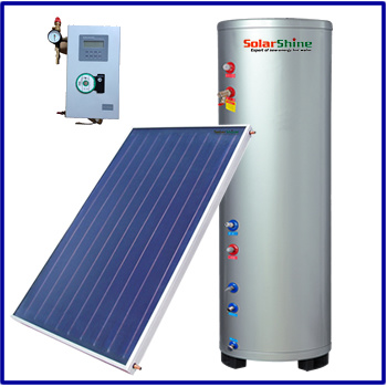 Supply Split Pressurized Type Solar Water Heater with Flat Plate Solar Collector Panel