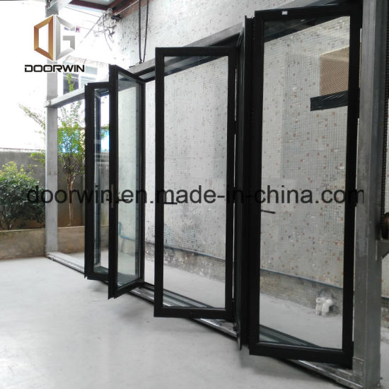 China Powder Coating White Color Aluminum Sliding Folding Glass Door