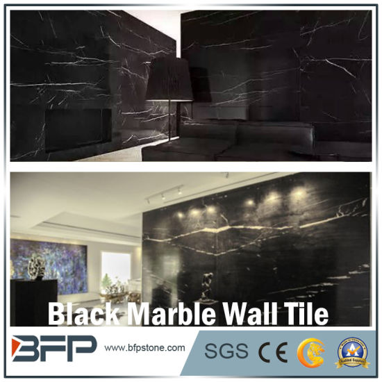 Black Marble Wall Tile for Bathroom Surrounding/TV Background Wall/Outside Wall Facade pictures & photos