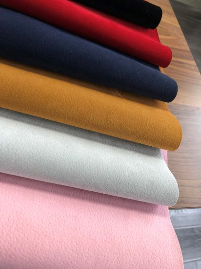 Hot Sale Synthetic Artificial Zhuba PU Imitation Leather for Sofa&Shoes
