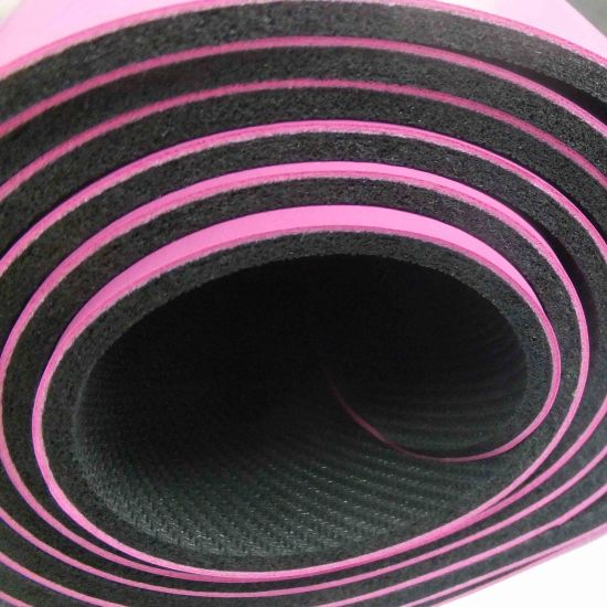 PU Leather Top Anti Slip Eco-Friendly Natural Rubber Yoga Mat pictures & photos