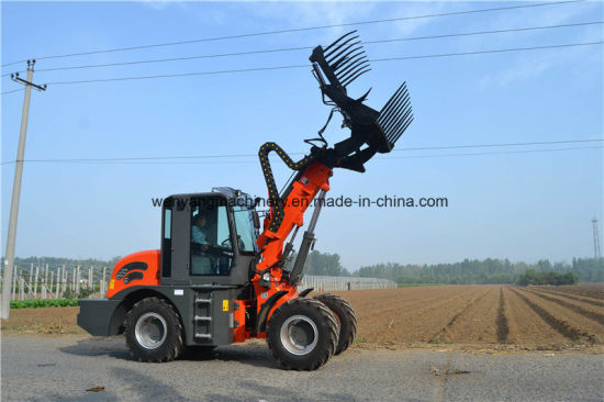 2ton Telescopic Wheel Loader with Grass Attachment pictures & photos