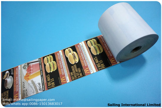 china top quality thermal paper rolls pre printed colors sp2