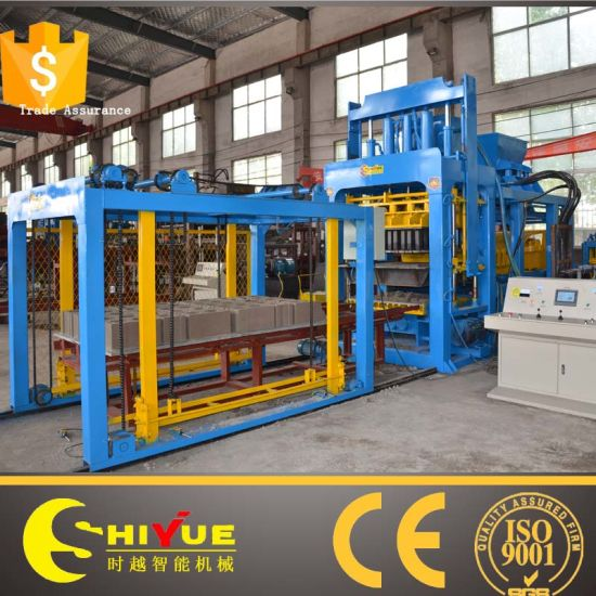 Qt12-15 Automatic Concrete Block Production Line Brick Making Machine pictures & photos