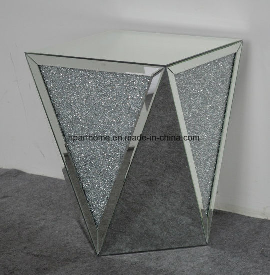 Home Used Crushed Diamond Mirrored Stool, Home Decor Furniture