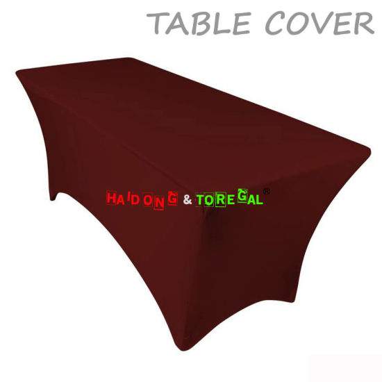 Bergundy Color Outdoor Wedding Sashes Folding Table Covers Decoration
