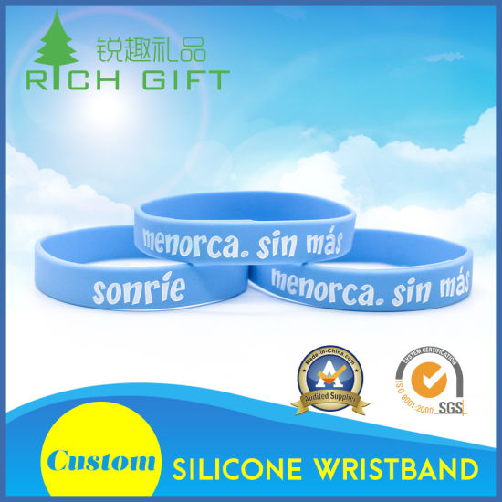 China Custom Mosquito Repellent Elastic Silicone Wristband Band for