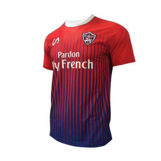 Healong Wholesales Football Shirt Stripe Custom Kids Soccer Jerseys