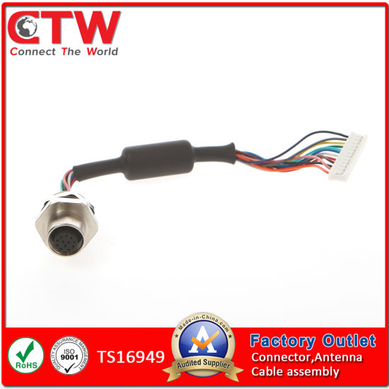 china m12 cable assembly china wire harness, wiring harness china m12 to pigtail cable assembly