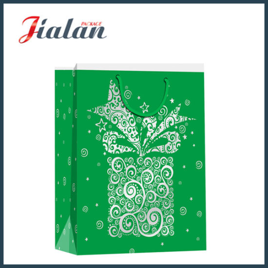 Promotion Wholesale Christmas Gifts Packing Shopping Carrier Paper Bag