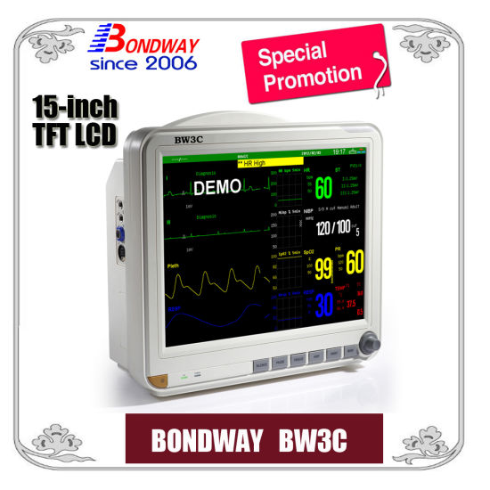 Portable Medical Patient Monitor Factory Price, with High Resolution TFT Display