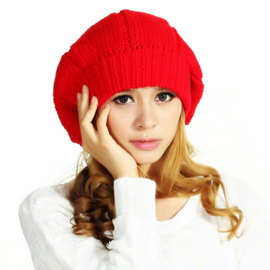 POM POM 100% Wool Crochet Berets Beanie Hats pictures & photos