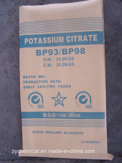 Potassium Citrate 99.5-100.5%, in Food Processing Industry, Dairy Productjellies Jam Meat Tinnedpastry, Pharmaceutical Industry pictures & photos