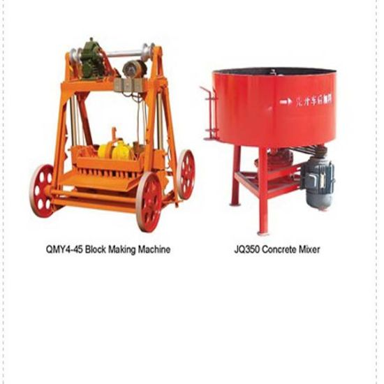Factory Direct Selling Jq500 Electric Fixing Large Pan Concrete Mixer pictures & photos