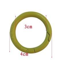 China Wholesale Custom Painted Metal Ring Round Carabiner Clip