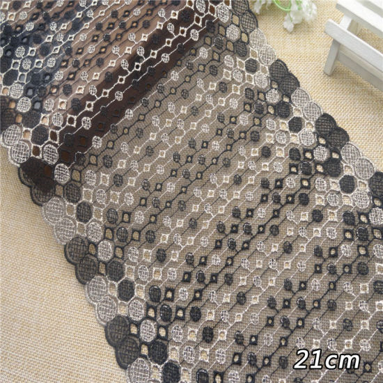 Trimming Wholesale Embroidery Border Black Yarn Lace Fabric Garment Accessories