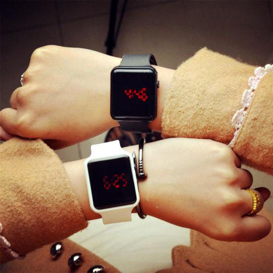 Unisex Casual Sport Digital LED Watches Silicone Wrist Watch Clock Hodinky  Ceasuri Relogio Masculino b19881ee053
