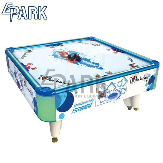 China Epark Wholesale 4 Person Coin Operated Square Indoor Mini Air Hockey Game Table For Kids China 4 Players Air Hockey Table And Hockey Table Machine Price