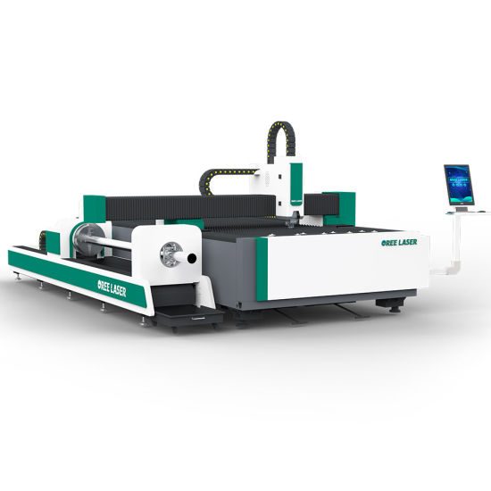 4000W 6000W 4020 CNC metal sheet and pipe combined fiber laser cutter
