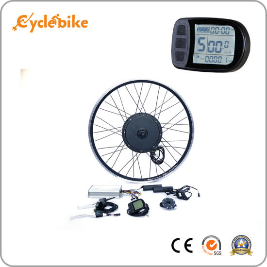 Electric Bicycle Cycle Conversion Kit 26 Inch Front Wheel 48V 1500W with LCD Display