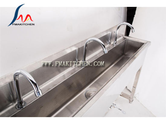 China Foot Paddle Operated Hand Wash Sink Foot Pedal Sink