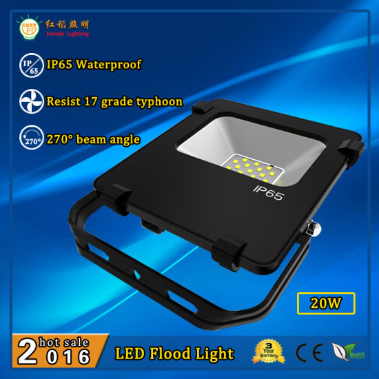 20W Die Cast Aluminum Housing Mini LED Flood Light Fixture with Ce RoHS Approval