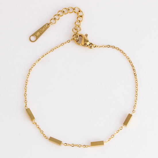 Fashion Jewelry Double Chain 18k Yellow Rose Gold Bracelet Design For Ladies China Gold Bracelet Girl And Gold Bracelet Designs For Ladies Price Made In China Com